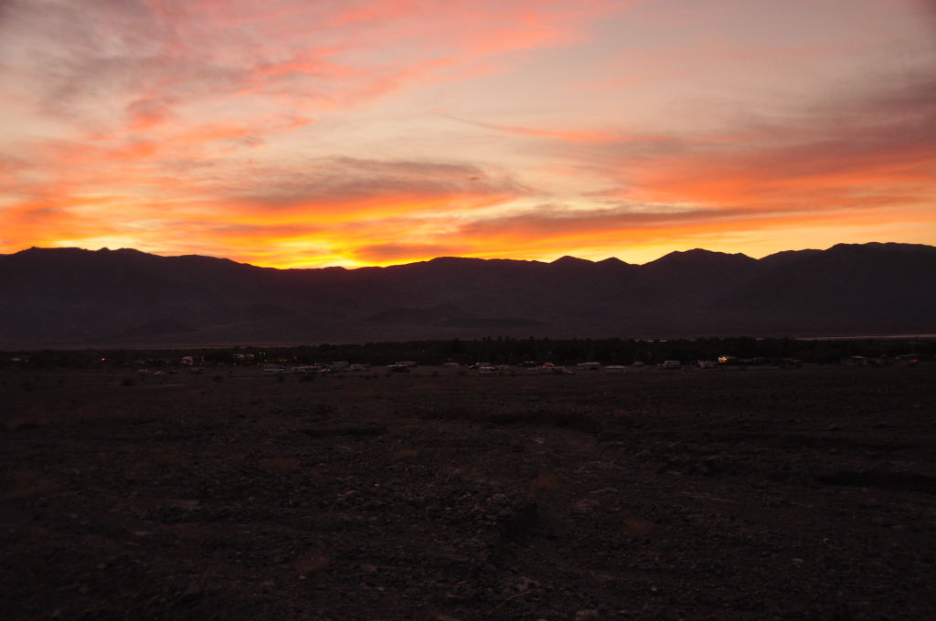 Abendstimmung in Furnace Creek